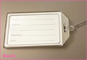 Rigid Plastic Luggage Tags, Page 1